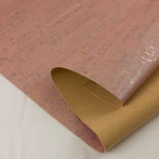 Natural Cork Fabric – Rose with Gold