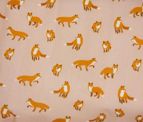 8oz. Waxed Cotton Canvas – Pink Fox