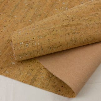 Natural with Silver – Cork Fabric