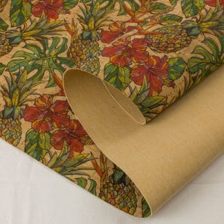 Printed Cork Fabric – Pineapple