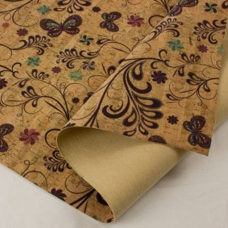 Printed Cork Fabric – Butterfly Garden