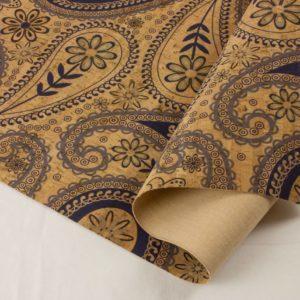 Paisley Blue – Cork Fabric