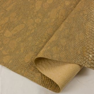 Textured Cork Fabric – Croc Gold