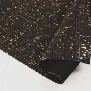 Black with Gold – Cork Fabric
