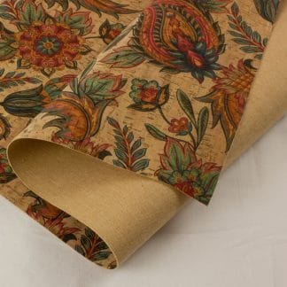 Printed Cork Fabric – Tropical Flowers