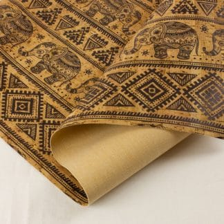 Printed Cork Fabric – Elephants