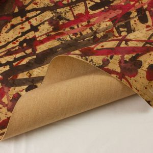 Red Drizzle – Cork Fabric
