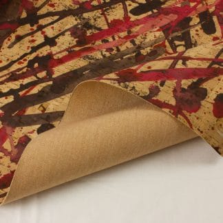 Printed Cork Fabric – Red Drizzle