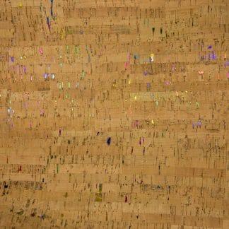 Natural Cork Fabric – Rainbow Fleck