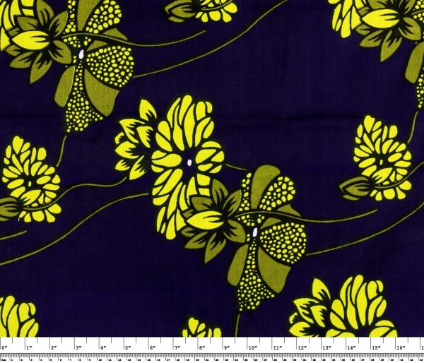 African Wax Print Fabric – Spring Floral