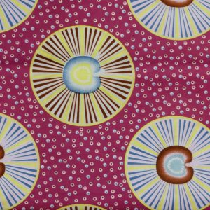 African Wax Print Fabric – Circles & Dots