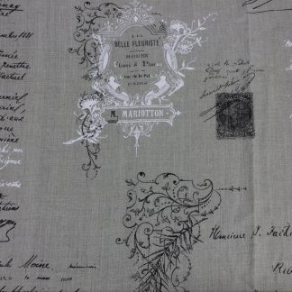 French Fabric – Manuscript Natural