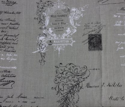 French Fabric – Manuscript Natural