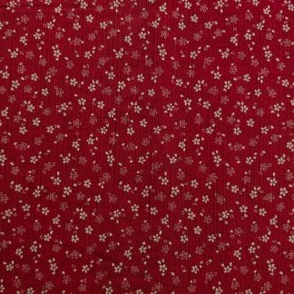 Japanese Prints – Geometric Floral – Red/Black