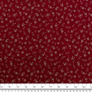 Japanese Prints – Geometric Floral – Red/Black