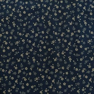 Japanese Prints – Geometric Floral – Navy/Brown