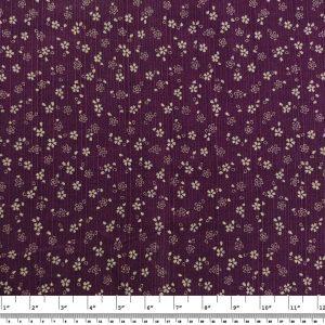Japanese Prints – Floral Geometric – Purple/Blue