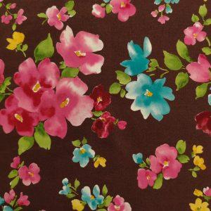 Oxford – Watercolour Floral – Brown