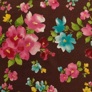 Oxford – Watercolour Floral – Brown