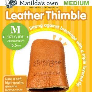 Accessories – Leather Thimble – Medium