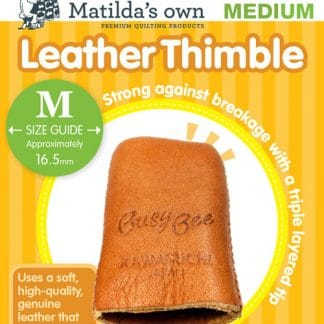 Accessories – Leather Thimble – Medium