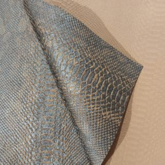 Croc Blue – Cork Fabric