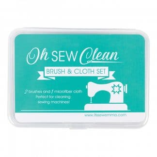 Oh Sew Clean Brush and Cloth Set – Green