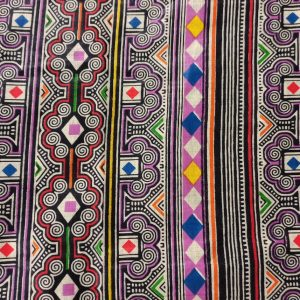 African Wax Print Fabric – Tribal Stripes