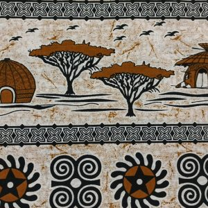 African Wax Print Fabric – Village Landscape