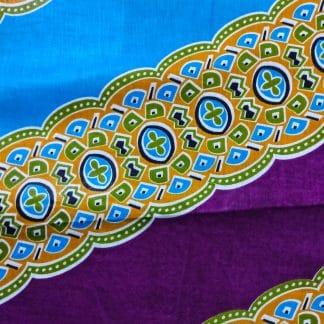 African Wax Print Fabric - Mari Diagonal Stripe