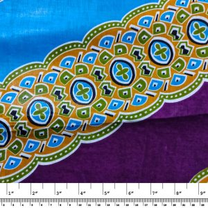 African Wax Print Fabric – Mari Diagonal Stripe