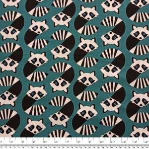 Quilting – Timeless Treasures Fabrics: Wild About You – Geometric Raccoons