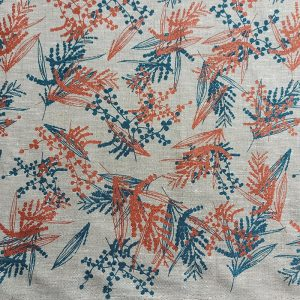 Mixed Wattle in Sea Blue and Copper – Femke Textiles