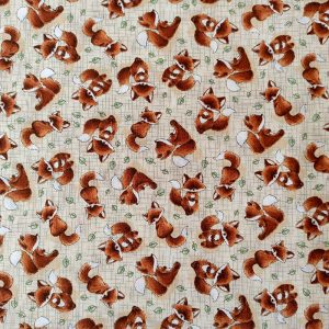 Tossed Foxes on Taupe – Timeless Treasures