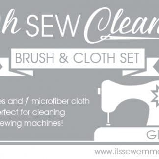Oh Sew Clean Brush and Cloth Set – Grey