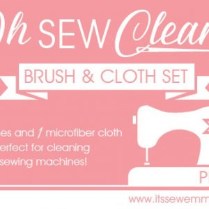 Oh Sew Clean Brush and Cloth Set – Pink