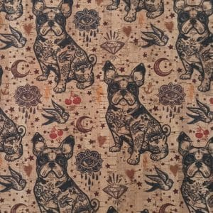 French Bulldog – Cork Fabric