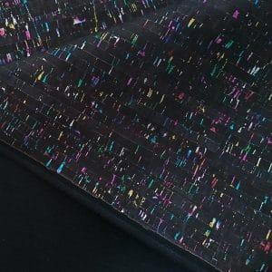 Black with Multi-colour – Cork Fabric