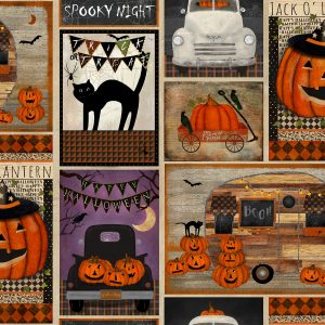 Spooky Night Patchwork Multi