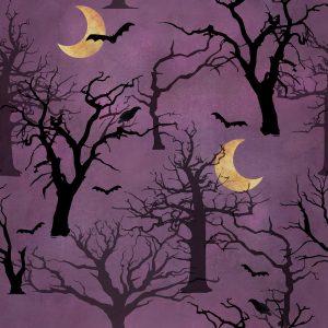 Spooky Night Purple Forest