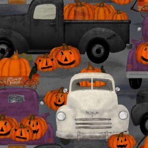 Spooky Night Pumpkin Patch Grey