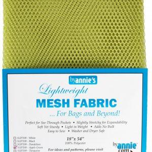 Lightweight Mesh Fabric Apple Green 18″x54″