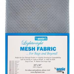 Lightweight Mesh Fabric Pewter 18″x54″
