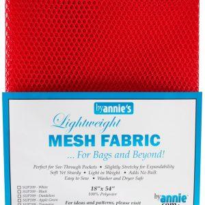 Lightweight Mesh Fabric Atomic Red 18″x54″
