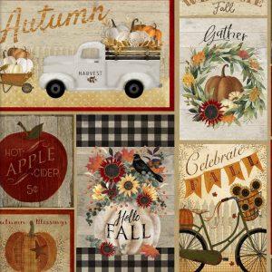 Happy Fall Multi Patchwork by Beth Albert